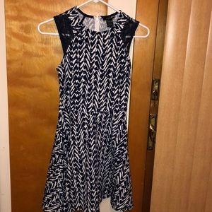 Aqua Navy Dress